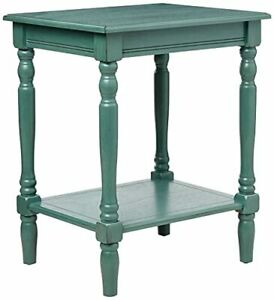 Décor Therapy Simplify End Table Oak, Antique Iced Blue