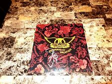 Aerosmith Rare Band SIGNED Permanent Vacation Vinyl Joe Perry Steven Tyler + COA