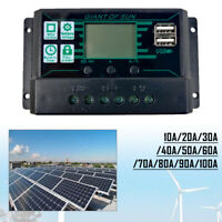 10A-100A MPPT Solar Panel Regulator Charge Controller 12/24V Focus Tracking