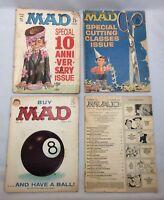 Lot of 4 MAD Magazines #72 #75 #81 #114
