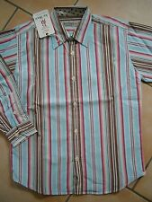 (H215) Leichtes gestreiftes Joe Black Boys Shirt langarm Freizeit Hemd gr.116