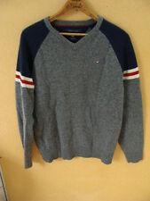 Tommy Hilfiger Mens Lambswool Sweater V-Neck Pullover Size S/P