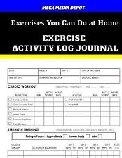 Exercises You Can Do at Home Exercise Activity Log Journal by Mega Depot...