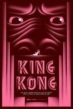King Kong Art Déco Movie Poster style B rose grand Édition Limitée Imprimé
