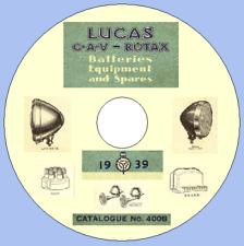 Lucas 400B 1939 Master Electrical Parts Catalogue