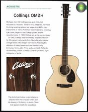 Collings OM2H acoustic guitar + Jerry Jones Coral Electric Sitar 6 x 8 article