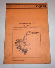 Lista Parti di Ricambio/Catalogo Ricambi 105/2 Agria Motozappa e Macchina