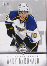 12-13 Limited Andy McDonald /49 SILVER Parallel Blues 2012