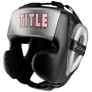 Title Boxing Platinum Proclaim Power Training Headgear - Black/Silver