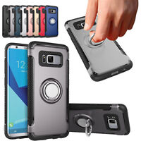 Hybrid Finger Ring 360° Stand Holder Hard Case Cover For Samsung Galaxy Phones