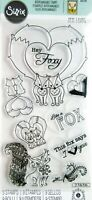 Fox Tales Interchangeable Clear Acrylic Stamp Set by Sizzix 661142 NEW!