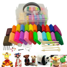 Polymer Clay Set 24 Colors Oven Bake DIY Air Dry With Modeling Tools Kids Toy