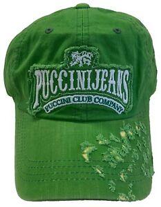 Puccini Jean Vintage Fashion Trucker Cross Skull Cotton Hat Cap w/Metal Closure