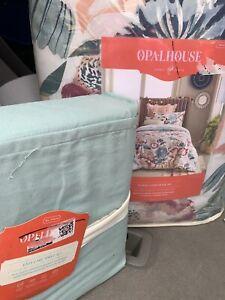 Opalhouse Green Twin Multi Reversible Floral TWIN xl Comforter Sheet Set 5 Pc