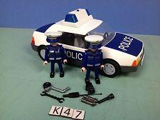 (K47) playmobil voiture de police bleue ref 3904 4086