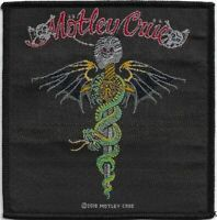Official Licensed Merch Woven Sew-on PATCH Metal Rock MOTLEY CRUE Dr Feelgood