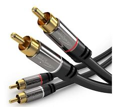 KabelDirekt 3 feet 2 x RCA Male to 2 x RCA Male Stereo Audio Cable - PRO Series