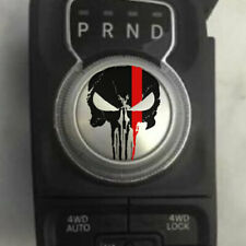 Fits Ram Punisher Grunge Shift Knob Decal Sticker Graphic Vinyl Rebel Red Line