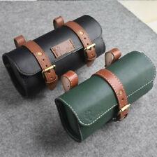 Vintage Leather Pannier Bike Saddle Tail Bag Bicycle Rear Seat Bag  Black Brown