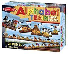 NEW~ Melissa and Doug Alphabet Train Floor Puzzle 28 Pcs Kids Fun 10 ft Long