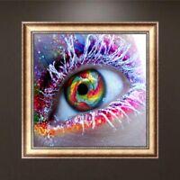 DIY 5D Diamond Embroidery Large Eye Painting Rhinestone Cross Stitch Home Decor