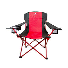 Oversize Mesh Folding Camping Chair Ozark Trail Seat Cup Holder Heavy Duty New