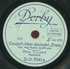 Couplet über deutsche Zitate / Eine Gerichtsverhandlung Grammophonplatte 78rpm