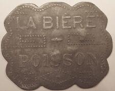 Jeton de nécessité, La Bière (Paris, chaîne de Brasseries 1920-40), Poisson !!