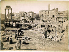 Rome Basilica Giulia Forum Vintage oversized albumen photo 28x38 cm 1870c XL129