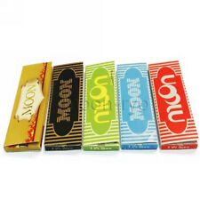 Moon 77×45mm 1.25 inch Cigarette Rolling Papers 5 Colors Mixed Pack 5 Booklets