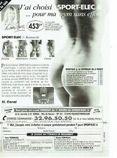 PUBLICITE ADVERTISING 0217  1995   Lova Moor  a choisi Sport-Elec seins nus
