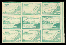 COLOMBIA 1920 AIRMAIL Plane,mountain,water 10c green Sc# C11(footnote) MNH BLOCK