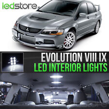 2003-2005 Mitsubishi Evo 8 White LED Lights Interior Kit Package Bulbs Evolution