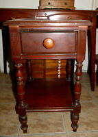 PALM SPRINGS FURNITURE Antique Nightstand Apt Size Small Mahogany Pick Up ONLY