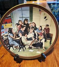 "Norman Rockwell Vintage Limited Collector Plate ""The Story Hour"" 1990 Fine China"