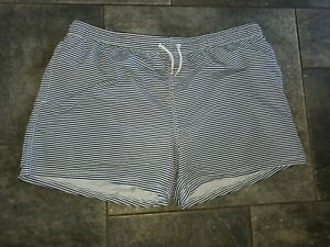 mens xl  swimming trunks white with blue stripes new