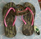 Mossy Oak Bottomland Women's Camo Pink Flip Flops Sandals Size Large NWT