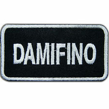 Damifino Slogan Damn, If I Know Joke Name Tag Biker Tattoo Iron-On Patches #T022