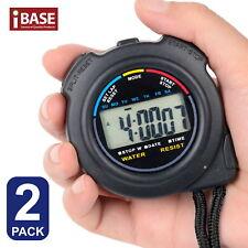 2x Handheld Stop watch Digital Chronograph Sports Counter StopWatch