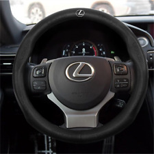 NEW 38CM Car Steering Wheel Cover For Lexus Black Leather Skidproof Nice