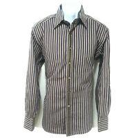 Robert Graham Shirt Mens Size L Large LS Flip Cuff Button Up Multicolor Stripes