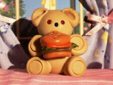 OAAK Teddy Bear holding Cheeseburger fits Fisher Price Loving Family Dollhouse