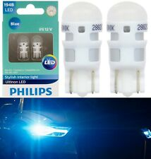 Philips Ultinon LED Light 194 Blue 10000K Two Bulb Front Side Marker Replace Fit