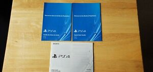 OEM Playstation 4 console manuals PS4 lot of 3 Manuals Only