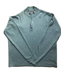 "Peter Millar Golf Zip Sweatshirt Mens L ""Hamilton Golf & Country Club"" *RARE*"