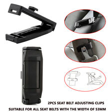 Car Seat Belt Adjusting Tension Clips Width 53mm Locking Stopper Safety Aid. Kit