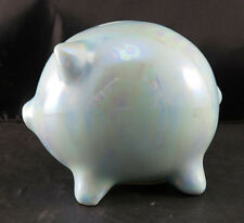 Designed Giftware Blue Piggy Bank February Enesco Imports Corp Collection 1989