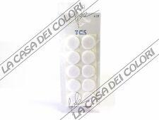 FELTRINI AUTOADESIVI TONDI BIANCHI - DIAM. 22mm - SPESS. 3mm - 3 CONF. DA 10 PZ.