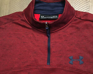 Mens Under Armour COLD GEAR Loose Fit 1/4 Zip Pullover Golf Sz Med EUC