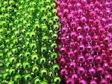 New Listing2 Dozen Mardi Gras Beads Lime Green & Hot Pink School Party Parade 24 Necklaces